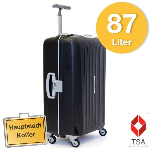 Hartschalen Koffer Schwarz/Grau Matt max.87 Liter