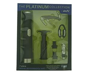 1 X The Platinum Collection By Shift3 7 Piece Wine Accessory Kit