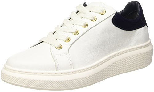 Tommy Hilfiger S1285abrina 1a, Scarpe Low-Top Donna, (WHITE/MIDNIGHT), 37