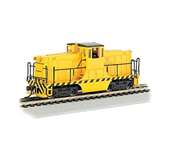 Bachmann GE 44-Ton Switcher Painted, Unlettered (Yellow with Black stripes) Locomotive HO Scale, DCC On-Board