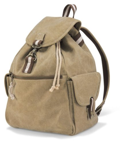 Quadra Canvas Rucksack Backpack Sahara