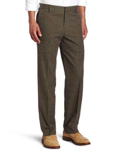Dockers Men's Urban Refined Khaki D2 Straight Fit Flat Front Pant, Sloat Dark Emerald Heather, 38x32