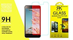 RKMOBILES Tempered Glass Screen Protector For Reliance Jio Lyf Wind 6