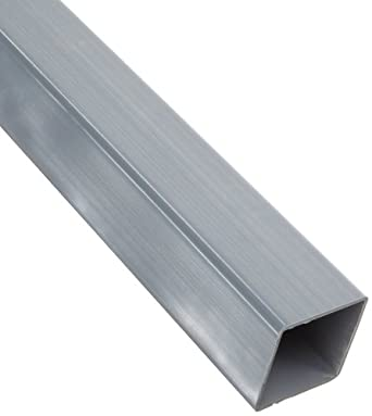 PVC Hollow Rectangular Bar, Gray, NSF-61