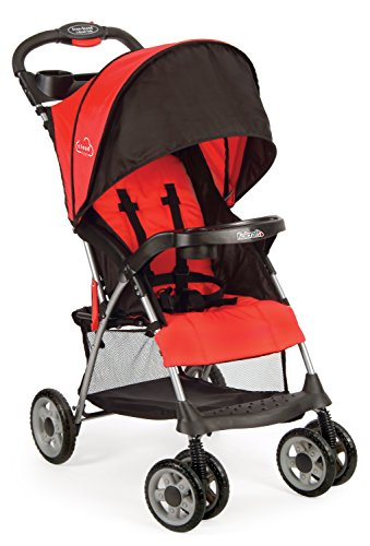 Kolcraft-Cloud-Plus-Lightweight-Stroller-Fire-Red