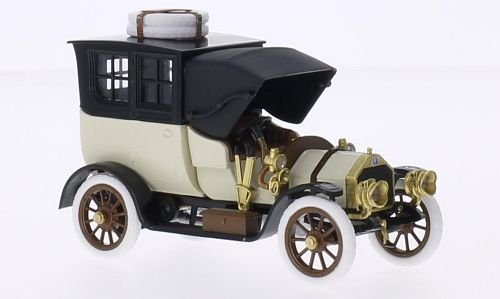 isotta-fraschini-bn-bnc-30-40-hp-hellbeige-schwarz-rhd-1909-modellauto-fertigmodell-rio-143