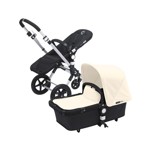 Bugaboo Cameleon 3 Stroller Black Base With New Extendable Sun Canopy (Off-White) - 1