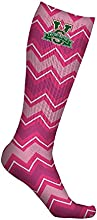 Mississippi Valley State University Delta Devils Socks Chevron Pink Design pair