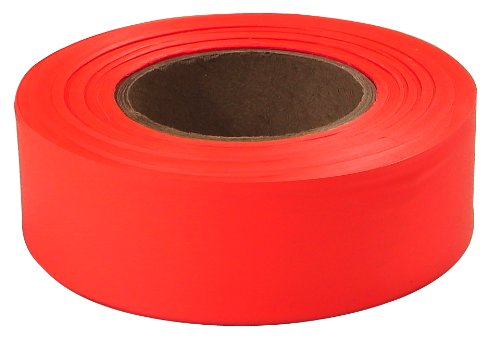 Empire Level 77-002 1-Inch by 200-Feet Flagging Tape, Orange