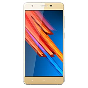 HAWEEL H1 Pro Unlocked Smartphone, 4G Android 6.0 MTK6735 Quad Core 5.0 inch Cell Phones RAM 1GB/8GB Dual SIM with USB Cable(Power Adapter Not Included), Gold Color