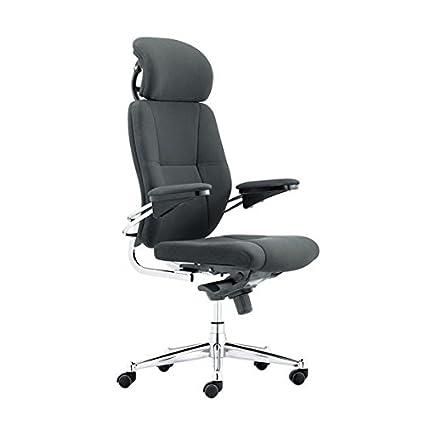 Contemporary High Back Executive Armchair with Chrome Base - Black