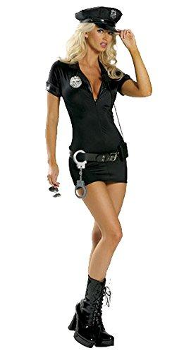 Avide Women's Sexy Police Uniform Traffic Cop Costume with Handcuffs (Cop Uniform Halloween)