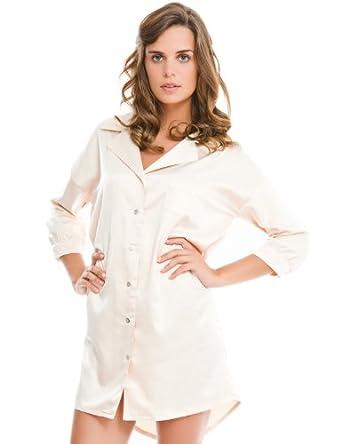 women 39 secret langarm nachthemd mit seitentasche und. Black Bedroom Furniture Sets. Home Design Ideas