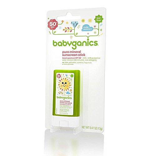BabyGanics Pure Mineral Sunscreen Stick SPF 50+ - 0.47 Ounce