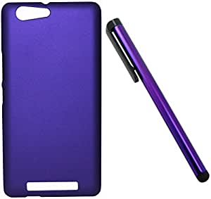FCS Rubberised Hard Back Case For Gionee Marathon M5 With Capacitive Touch Screen Stylus