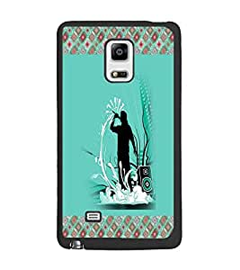 PrintDhaba Music D-3264 Back Case Cover for SAMSUNG GALAXY NOTE 4 EDGE (Multi-Coloured)