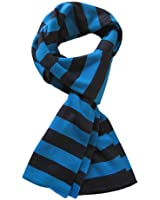 TrendsBlue Soft Knit Striped Scarf - Blue & Black