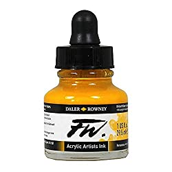 Daler-Rowney FW Ink 29.5ML Brill Yellow