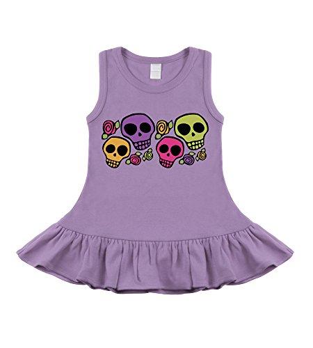 Dia De Los Muertos Lavender Sleeveless Dress (12-18 Months)