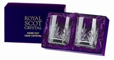 2 Royal Scot Whisky Tumblers - Highland - PRESENTATION BOXED