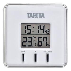 TANITA デジタル温湿度計 ホワイト TT-550-WH