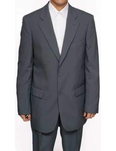 Mens 2 Button Gray Dress Suit