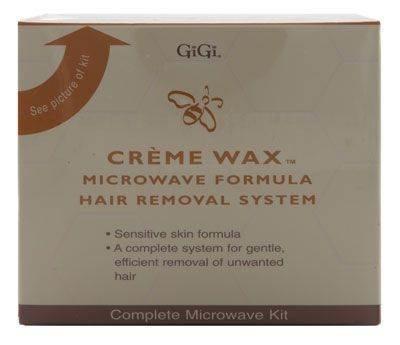 Gigi Creme Wax Microwave Formula Hair Removal System Complete Microwave Kit 35 Piece Kit