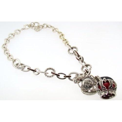 Kirks Folly Silvertone Lucky Charm Necklace