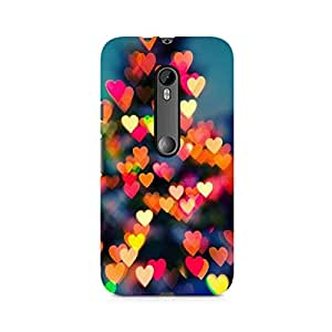 Ebby Blurry Hearts Premium Printed Case For Moto X Force