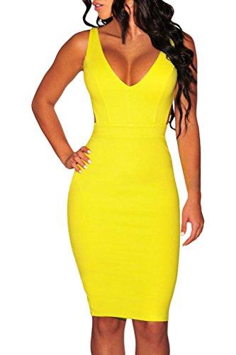 Yellow Mini Club Dress