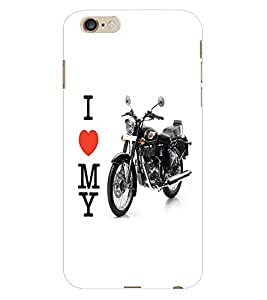 Fuson 3D Printed Royal Enfield Designer Back Case Cover for Apple iPhone 6S Plus - D778