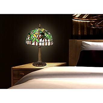 abat jour bamboo lampe de table table de nuit en verre style style tiffany luminaires et. Black Bedroom Furniture Sets. Home Design Ideas