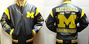 Michigan Wolverines Championship Leather Jacket by NCAA