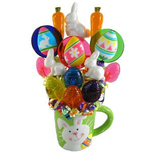 Easter Wishes Lollipop Bouquet (Gourmet,Lollipop Creations,Gourmet Food,Candy,Hard Candies)