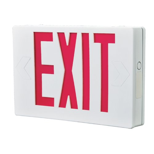 All-Pro Emergency APX7R Self Powered LED Exit Sign, Red Letters