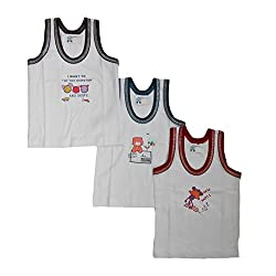 NammaBaby Cotton Sleeveless vest Multi PRINT Set Of 3 (12-18 months)