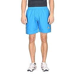 Attro Men's Polyester Shorts (ATRMSH01006FXL_Blue_X-Large)