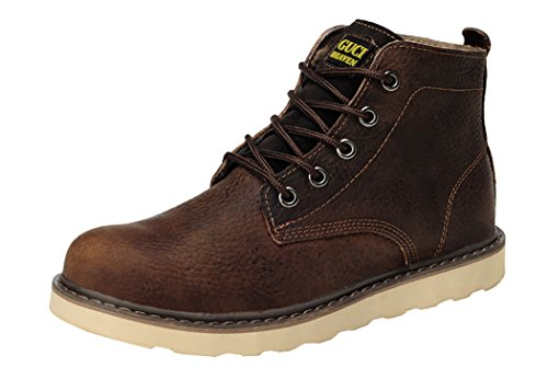 Guciheaven Winter Men British Style Caual Leather Martin Boots(10 D(M)Us, Goffee)