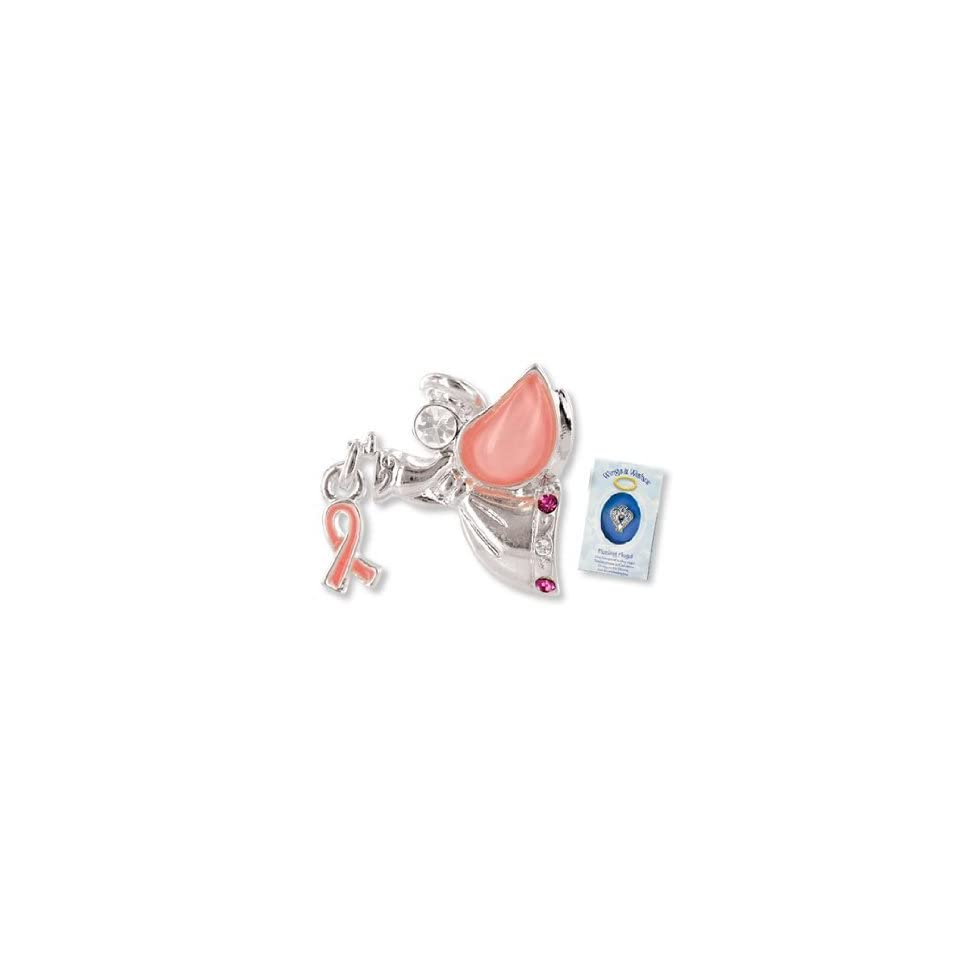 dcc6ba947c90b PINK RIBBON Wings & Wishes ANGEL PIN/Breast Cancer AWARENESS/Gift Boxed 1  LAPEL/Show Your Support