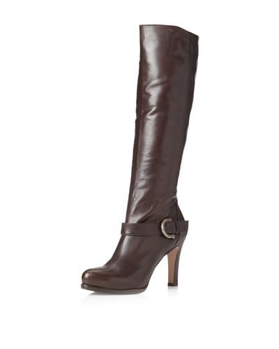 Pura López Women's High Heel Boot  - Dark Brown