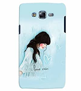 Fuson Cute Girl Back Case Cover for SAMSUNG GALAXY J5 - D3894