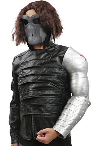Men's TWS Bucky Barnes Cosplay Costume Full Suit for Movie Christmas