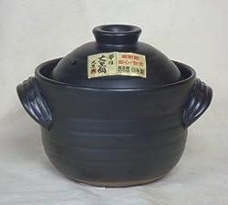 炊飯 ご飯土鍋2合炊き(二重蓋) 大黒 万古焼