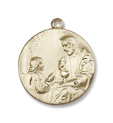 Gold Filled St. Christopher Medal Pendant Charm with 18