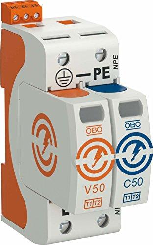 Uomo OBO better Combi controller V50 -1 + NPE + FS-280 Polo con NPE + FS SW-SCARICATORE di energia tecnica 4012196159703