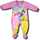 "Disney Princesses ""First Snowfall"" Pink Footed Sleeper for toddler girls"