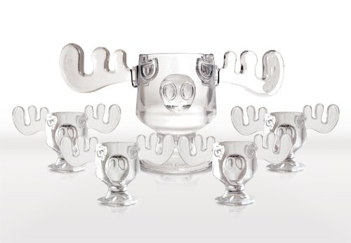 Christmas-Vacation-Glass-Moose-Mug-Punch-Bowl-Set-w-Set-of-4-Moose-Mugs