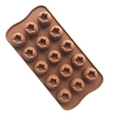 Always Your Chef Soccer Shaped Silicone Candy/Chocolate Making Molds DIY Molds, MINI Molds for Making Jello,Random Color