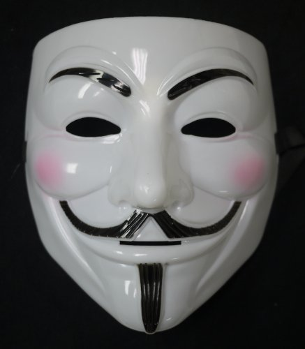 V for Vendetta Costume Mask in White