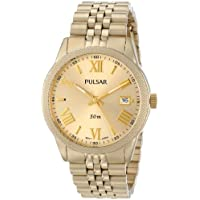 Pulsar Analog Display Japanese Quartz Gold Women's Watch